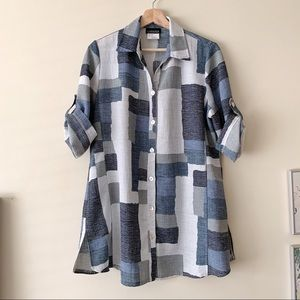 Vintage Button Down Patterned Shirt